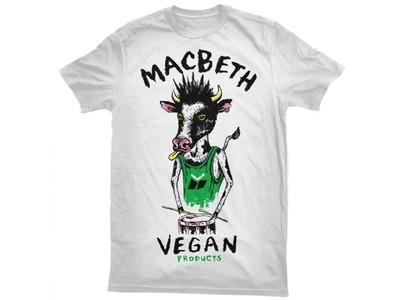 MACBETH - VEGAN PUNK TEE WHITE/GREEN