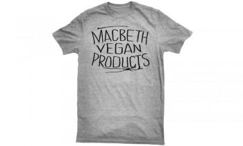 MACBETH - VEGAN PRODUCTS TEE HEATHER GREY